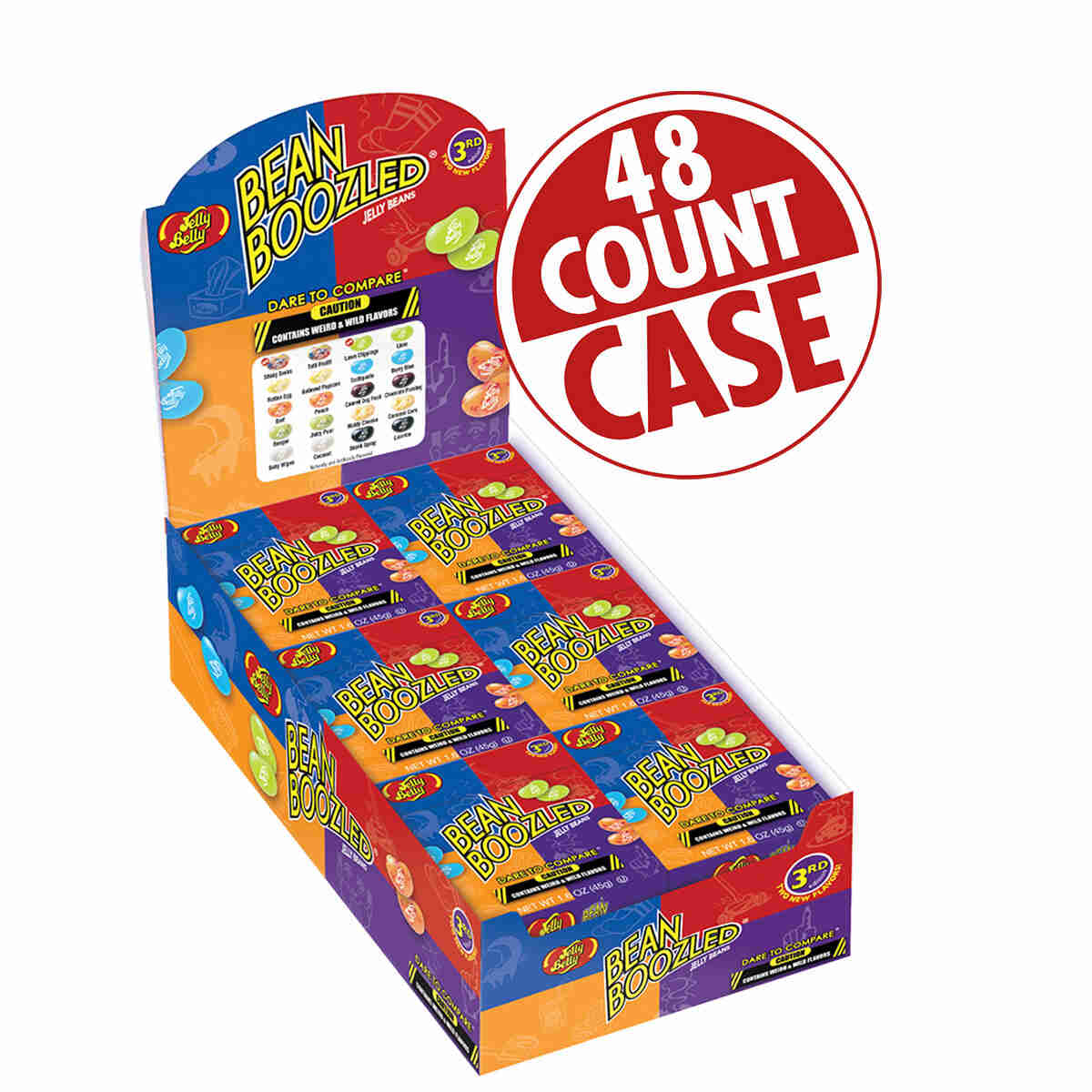 BeanBoozled Jelly Beans - 1.6 oz boxes - 48 Count Case