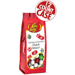 Christmas Chocolate Dutch Mints - 6 oz Gift Bags - 12-Count Case