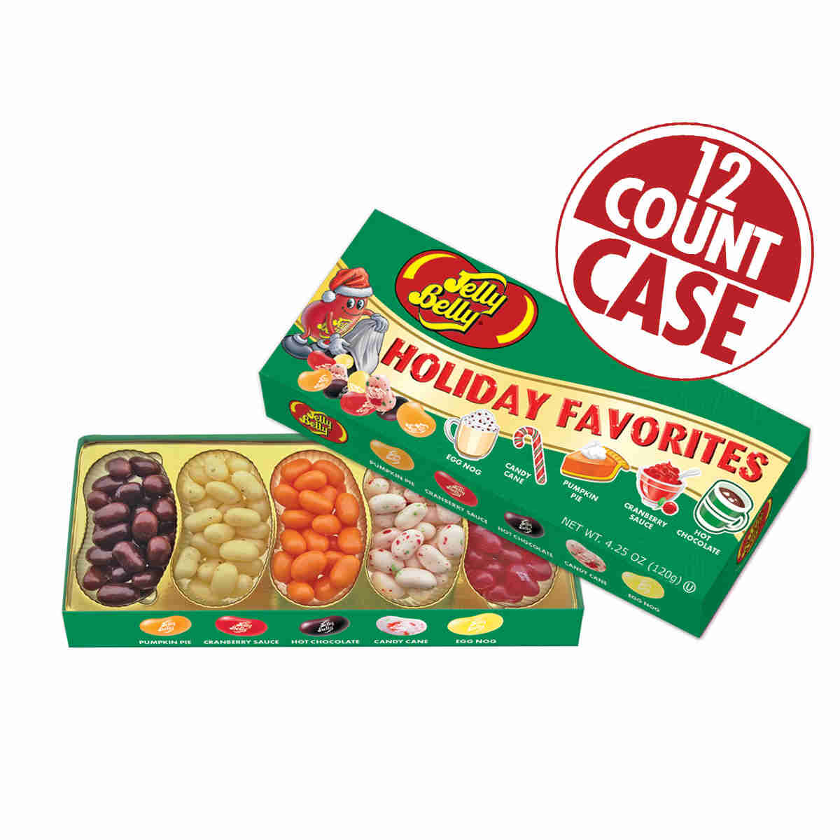 Holiday Favorites Jelly Bean 4.25 oz Gift Box - 12 Count Case