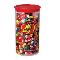 49 Assorted Jelly Bean Flavors - 3 lb Clear Can