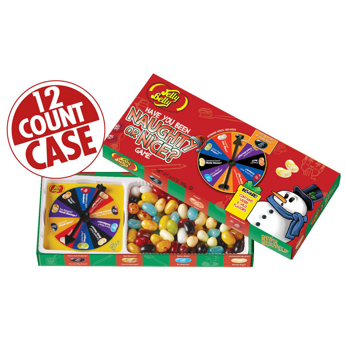 Naughty or Nice Jelly Bean Spinner Gift Box - 3.5 oz Box - 12 Count Case