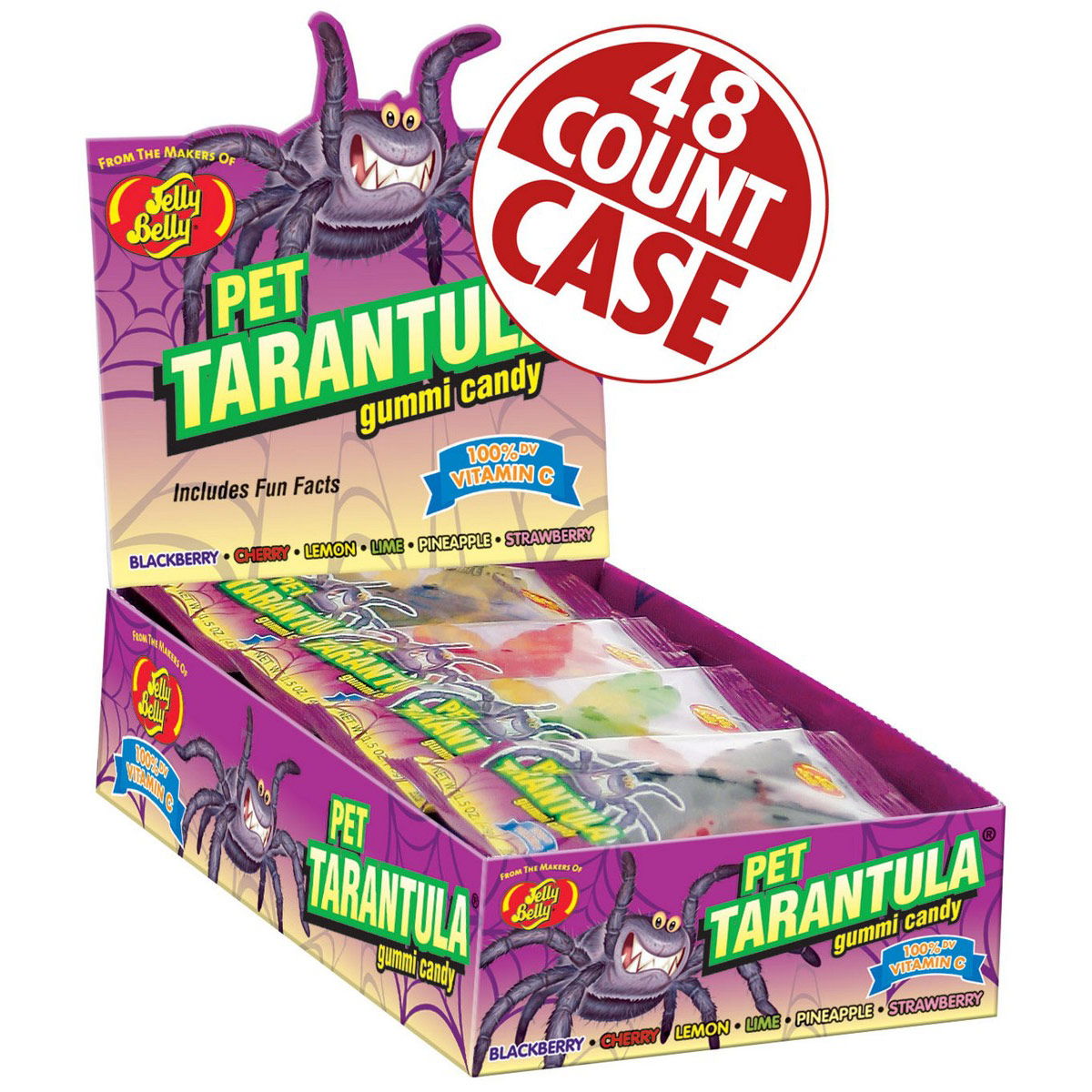 Gummi Pet Tarantulas - 1.5 oz - 48 Count Case