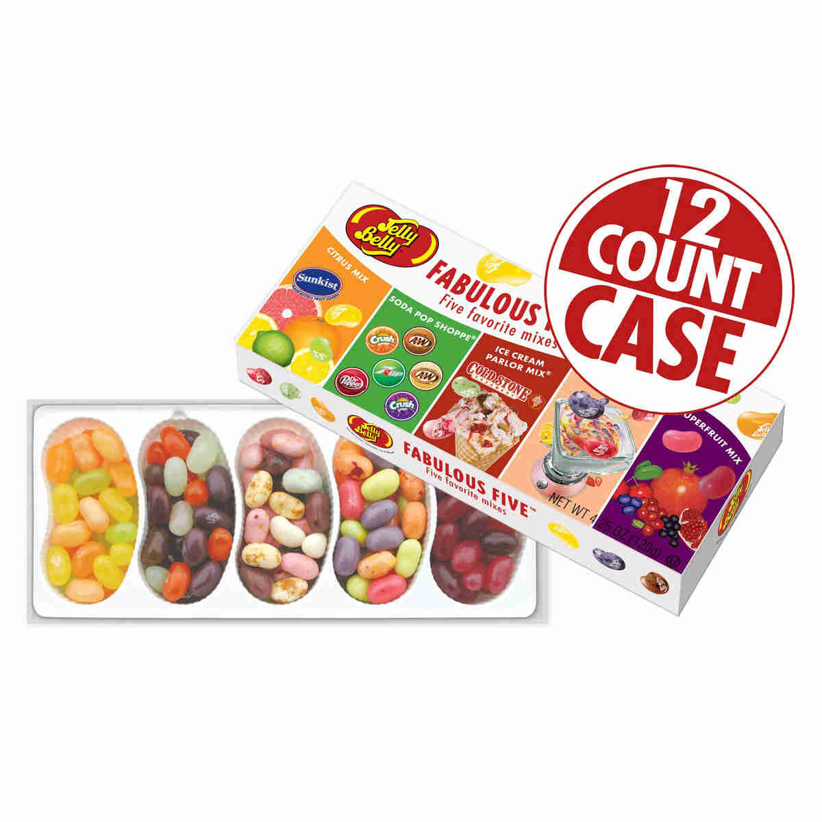 Fabulous Five<sup>®</sup> jelly Bean Gift Box - 12-Count Case