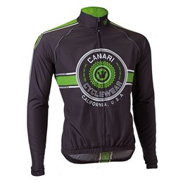 Canari Men's Shift Wind Shell Cycling Jacket Ecto Green