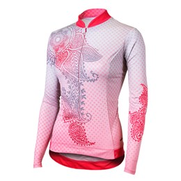 Shebeest Women's S-cut Mehndi Long Sleeve Cycling Jersey