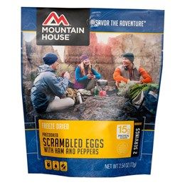 Mountain House Scrambled Eggs With Ham & Peppers Breakfast Course