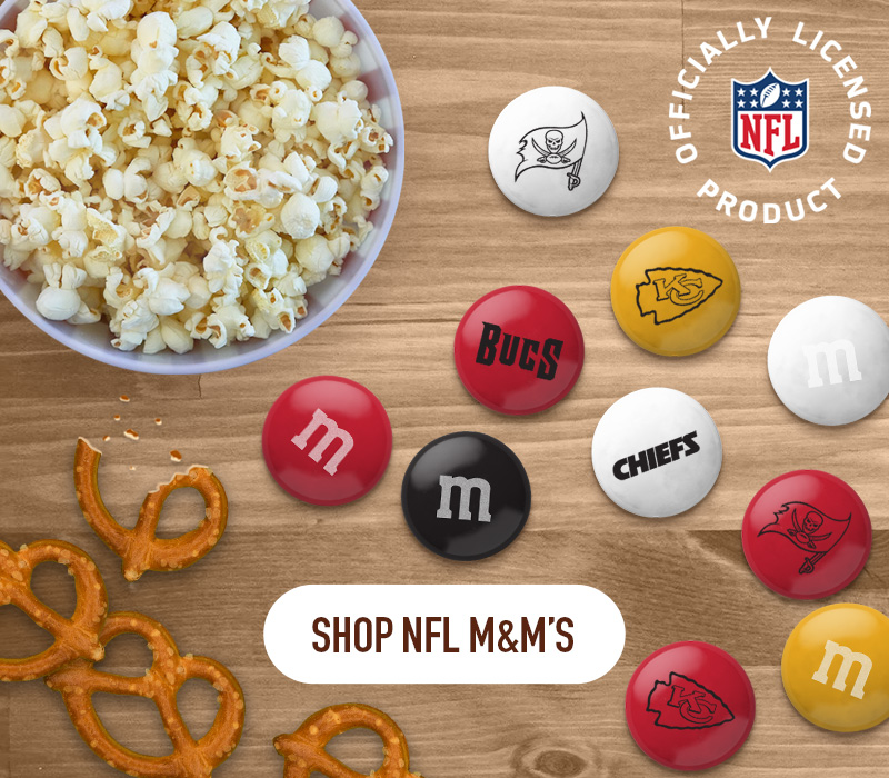 Click this banner to shop our NFL M and M items